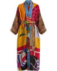 Rianna + Nina - Vintage Patchwork Silk Kimono Coat - Lyst