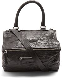 Givenchy - Pandora Medium Creased Leather Bag - Lyst