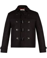 Saint Laurent - Cropped Wool Duffle Coat - Lyst