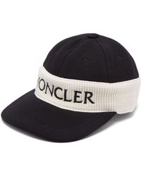 Moncler - Fitted Logo Embroidered Cotton Cap - Lyst
