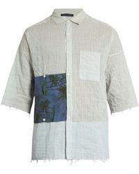 Longjourney   G Short-sleeved Striped Cotton Shirt   Lyst