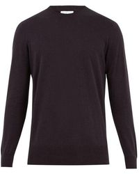 Raey - - Crew Neck Cotton Knit Jumper - Mens - Navy - Lyst