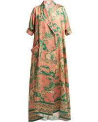 Chufy - Desta Safari Print Linen Robe - Lyst