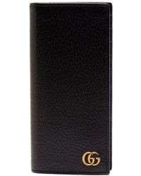 1c6e9af81573 Lyst - Gucci Agora Grained-leather Travel Wallet in Black for Men