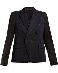 Stella McCartney Double Breasted Checked Blazer
