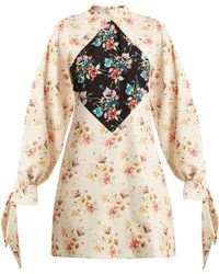 Christopher Kane - Archive Floral Print Crepe Mini Dress - Lyst