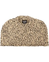CALVIN KLEIN 205W39NYC - Knitted Melange Wool Blend Shawl - Lyst