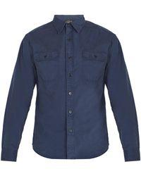 RRL - Double Pocket Cotton Shirt - Lyst