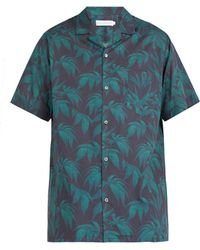 Desmond & Dempsey - Byron Foliage Print Cotton Pyjama Top - Lyst