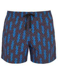 Danward - Maze-print Swim Shorts - Lyst