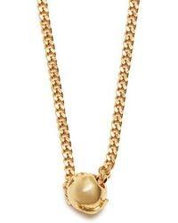 Black Dakini - Bead-embellished Gold-vermeil Necklace - Lyst