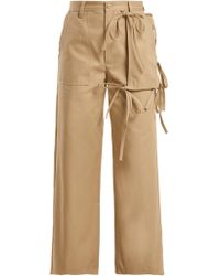 MM6 by Maison Martin Margiela - Utility Pocket Cotton Chino Trousers - Lyst