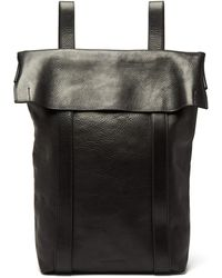 ea3f325a7963 Lyst - Diesel Black Gold Black Grained Leather Private E1 Backpack ...