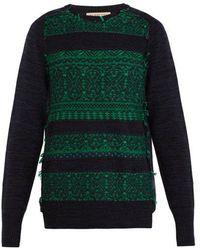Burberry - Reverse-knit Wool-blend Sweater - Lyst