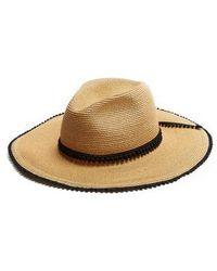 Filù Hats - Batu Tara Pompom-trimmed Straw Hat - Lyst
