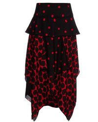 Proenza Schouler - Polka-dot Print Handkerchief-hem Skirt - Lyst