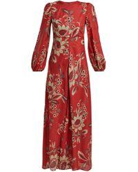 Zimmermann - Juno Rosa Batik Print Linen Dress - Lyst