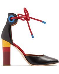Malone Souliers - X Roksanda Jolene Leather Court Shoes - Lyst
