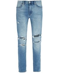 Neuw - Rebel Form Ripped Jeans - Lyst