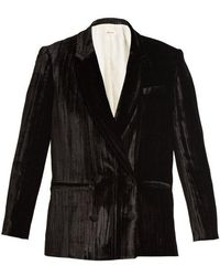 MASSCOB - Double-breasted Crinkle-velvet Blazer - Lyst