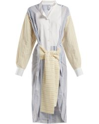 Loewe - Panelled Cotton Blend Shirtdress - Lyst