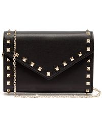 0498ca057c5 Valentino - Rockstud Leather Envelope Clutch - Lyst