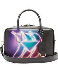 Prada - Banana Print Leather Bowling Bag - Lyst