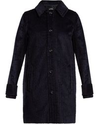 A.P.C. - Manon Single-breasted Corduroy Coat - Lyst