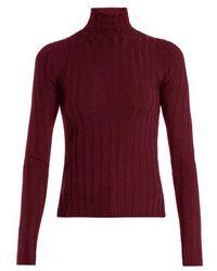 Acne Studios - Corina Ribbed-knit Wool-blend Jumper - Lyst