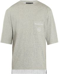 Longjourney - Nash Embroidered Cotton T Shirt - Lyst