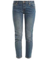 A.P.C. - Etroit Court Low-rise Skinny Jeans - Lyst