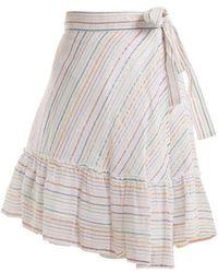Apiece Apart - Tamarind Cotton-blend Asymmetric Wrap Skirt - Lyst