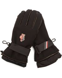 Moncler Grenoble - Logo-embroidered Padded Twill Gloves - Lyst