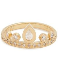 Jacquie Aiche - Diamond & Yellow Gold Ring - Lyst