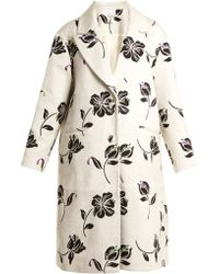 Huishan Zhang - Alison Floral-jacquard Single-breasted Coat - Lyst