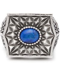 Emanuele Bicocchi - Sovereign Stone Sterling Silver Ring - Lyst