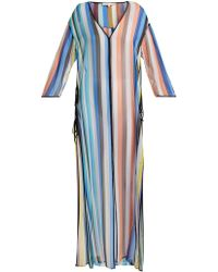 Diane von Furstenberg - Striped Silk Maxi Kaftan - Lyst