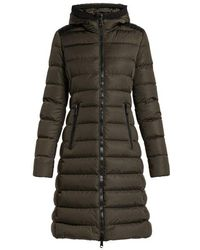 Moncler - Taleve Leather-panel Quilted Coat - Lyst