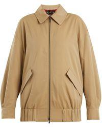 Burberry - Harrington Showerproof Cotton-gabardine Jacket - Lyst