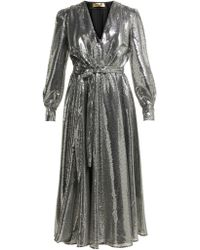 MSGM - Sequinned Midi Dress - Lyst