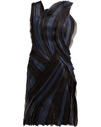 Lanvin - Tiered Silk Voile And Satin Mini Dress - Lyst