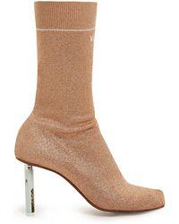 Vetements - Lighter Heel Sock Ankle Boots - Lyst