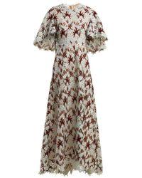 Giambattista Valli - - Floral Macramé Lace Gown - Womens - Green Multi - Lyst