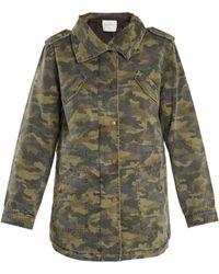 Velvet By Graham & Spencer - Irene Camouflage-print Point-collar Jacket - Lyst