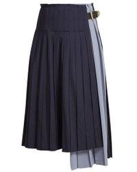 Toga - Pleated Wool Skirt - Lyst
