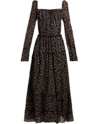 Altuzarra - Lahiri Floral Print Silk Blend Dress - Lyst