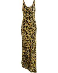 Diane von Furstenberg - Print Silk Bias Slip Gown - Lyst