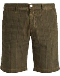 Massimo Alba - Striped Slim-leg Linen And Cotton Shorts - Lyst