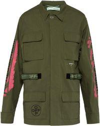 Off-White c/o Virgil Abloh - Logo-print Cotton-blend Field Jacket - Lyst