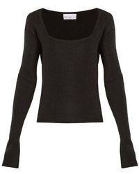 Raey - Square-neck Ribbed Cashmere Sweater - Lyst